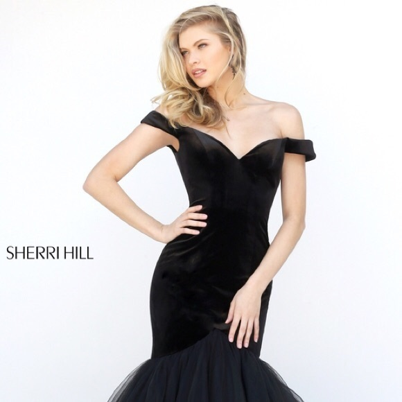 d298d153a02d Sherri Hill Dresses | Black Velvet Mermaid Gown | Poshmark